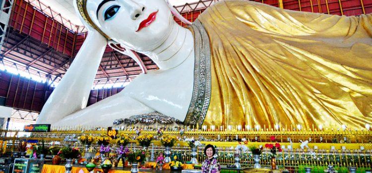 tượng phật nằm ở Myanmar