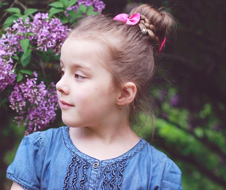 Kiểu tóc cho bé gái từ 2 tuổi