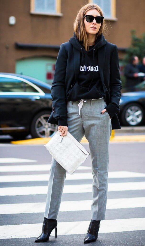 áo hoodie mặc với chân váy