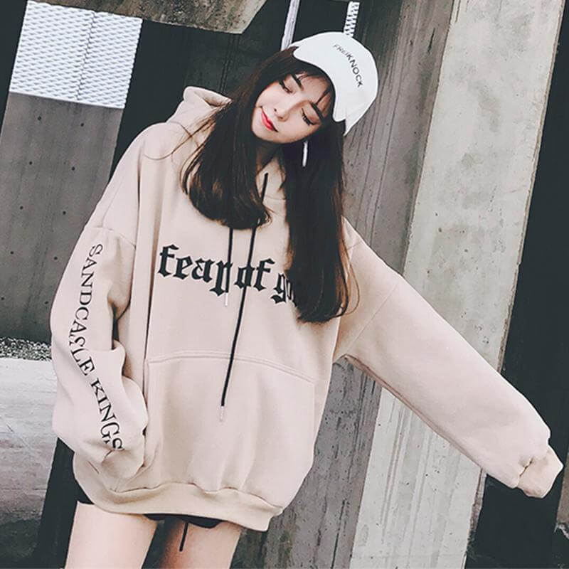 mix đồ với hoodie oversize
